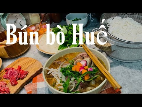 Cách nấu Bún bò tại nhà (Đà nẵng) / How to cook Beef noodles Danang style delicious at home