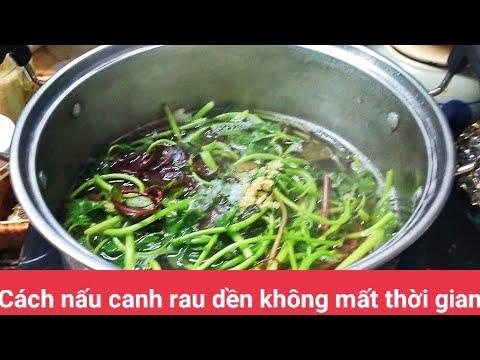 Cách Nấu Canh Rau Dền Tôm Khô Đơn Giản Mà Ngon- Món ăn Gia Đình- mẫn mẫn vlog